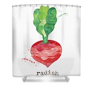 Fresh Radish Shower Curtain