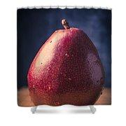 Fresh Ripe Red Pear Shower Curtain