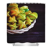 Fresh Ripe Starfruits Shower Curtain
