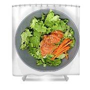 Fresh Seafood Salad With Smoked Salmon Shower Curtain