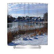 Fresh Snow Along The Creek Shower Curtain