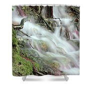 Fresh Spring Water Nature Detail Shower Curtain