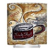 Fresh Start Original Painting Madart Shower Curtain