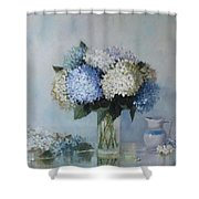 Fresh Summer Hydrangea 2 Shower Curtain