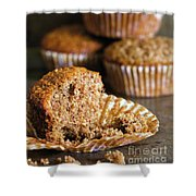 Freshly Baked Muffins Shower Curtain