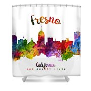 Fresno California Skyline 23 Shower Curtain