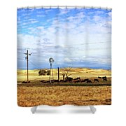 Fresno County Pastoral Shower Curtain