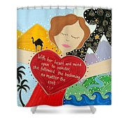 Freya Stark Shower Curtain