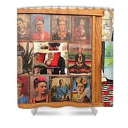 Frida Kahlo Display Picts Shower Curtain