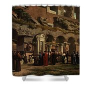 Friday At The Colosseum In Rome Amerigo Y Aparici  Francisco Javier Shower Curtain
