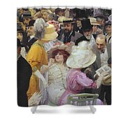 Friday At The French Artists Salon Shower Curtain by Jules Alexandre Grun