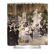 Friday At The Salon Shower Curtain by Jules Alexandre Grun
