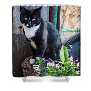 Friday The Cat Shower Curtain