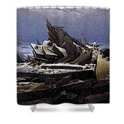 Friedrich Caspar David The Sea Of Ice Shower Curtain