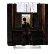 Friedrich Caspar David Woman At A Window Shower Curtain