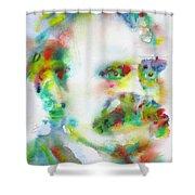 Friedrich Nietzsche - Watercolor Portrait.10 Shower Curtain