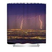 Friendly Bolts Shower Curtain