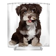 Friendly Dog Shower Curtain