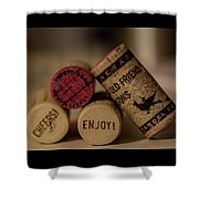 Friends And Wine Shower Curtain