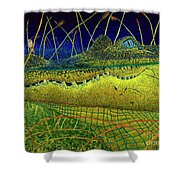 Swamp Gathering Shower Curtain