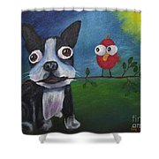 Friends Don't Fly Away Shower Curtain