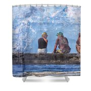 Friends In Paradise Shower Curtain