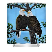 Friends Shower Curtain by Tracey Goodwin