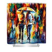 Friends Under The Rain Shower Curtain
