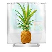 Friendship Pineapple Shower Curtain