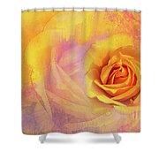 Friendship Rose Textured Shower Curtain