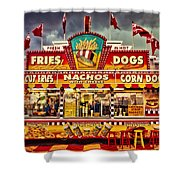 Fries Nachos Dogs Shower Curtain