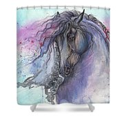 Friesian Horse 2015 12 24 Shower Curtain