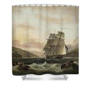 Frigate Of The Royal Navy Shower Curtain