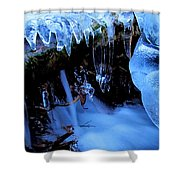 Frigid Flow Shower Curtain