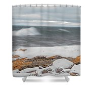 Frigid Waves Shower Curtain