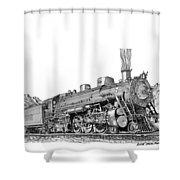 Steam Driven Locomotive Shower Curtain