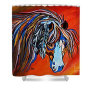 Frisco War Horse Shower Curtain