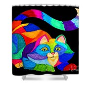 Frisky Cat Shower Curtain