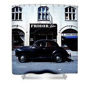 Frisor And Black Car  Copenhagen Denmark Shower Curtain