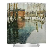Frits Thaulow    A Chateau In Normandy Shower Curtain