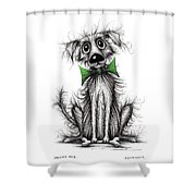 Frizzy Dog Shower Curtain