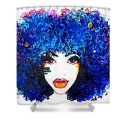 Fro Blues Shower Curtain