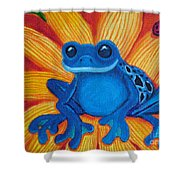 Frog And Lady Bug Shower Curtain