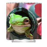 Frog At Selby Shower Curtain