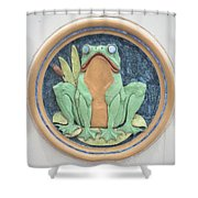 Frog Ceramic Plaque Shower Curtain