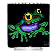 Frog Eyes  Shower Curtain