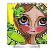 Frog Fairy Shower Curtain