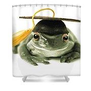 Frog Graduate Shower Curtain