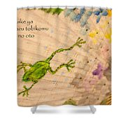 Frog - Haiku Shower Curtain
