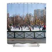 Frog Pond Skating Rink Boston Common Shower Curtain